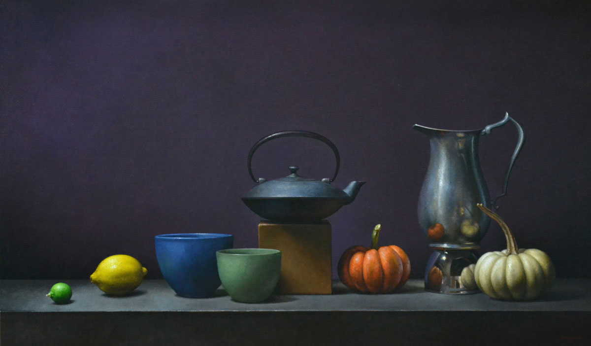 "Trish Coonrod ""4 Pairs"" 26x46 oil on canvas $7,560."