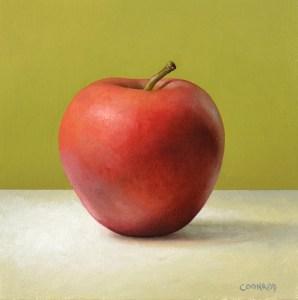 "Trish Coonrod ""Gala Apple"" 6x6 oil $550."
