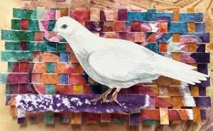 """Cynthia Cratsley """"Dove"""" 7x4 watercolor $95."""