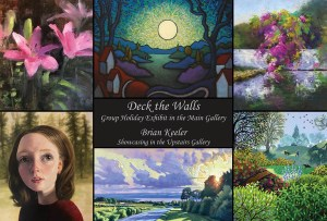 "Current Exhibit: ""Deck the Walls"" Exhibit in the Main Gallery and Showcasing Brian S. Keeler in the Upstairs Gallery @ West End Gallery"