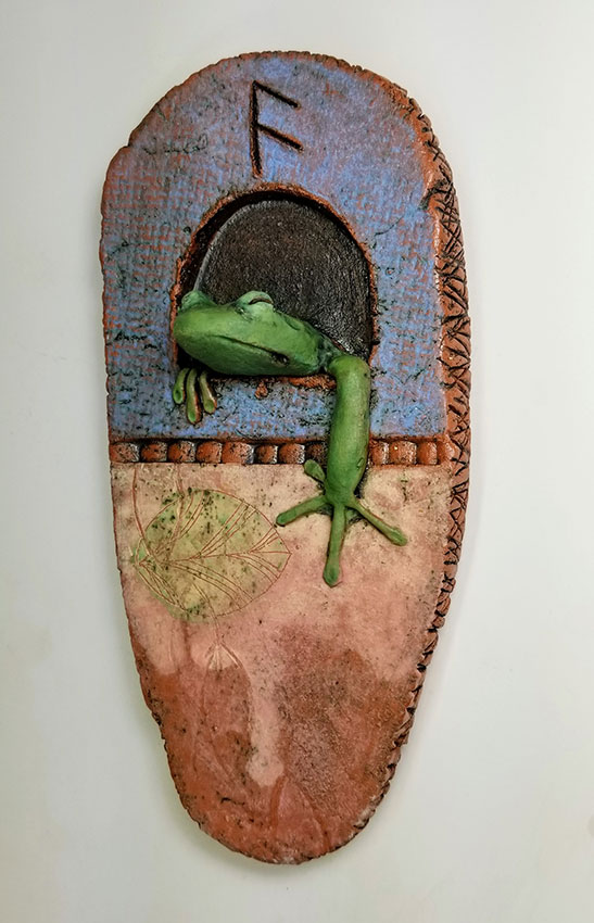 "Carolyn Dilcher-Stutz ""Frog Reliquary"" Inquire"