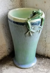 """Carolyn Dilcher-Stutz """"Frog Vase"""" Approx 6"""" tall $60. Inquire on availability"""