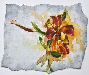 """Jennifer Fais """"Delight"""" 10x12 wc/acrylic gessoed paper $350."""