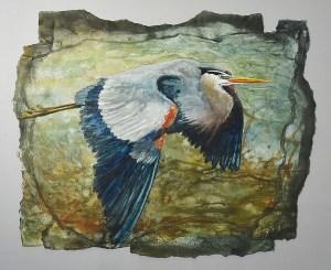 "Jennifer Fais ""Downstroke"" 16x20 watercolor/acrylic $530."