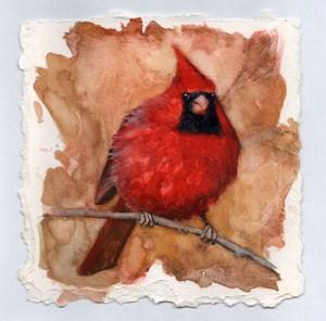 "Jennifer Fais ""Riveted"" 6x6 watercolor $240."