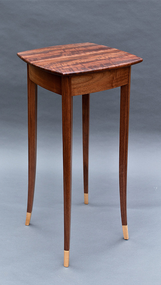 "Tracy Fiegl ""Angelica"" (walnut) 32x15x15 walnut, maple $725."