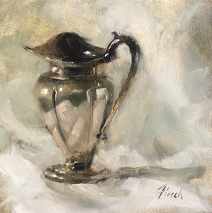 """Rebecca Finch """"On the Eve of Hope"""" 5x5 oil $250."""