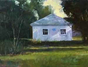 """Tom Gardner """"Blue Butterfly"""" 12x16 oil $1,050."""