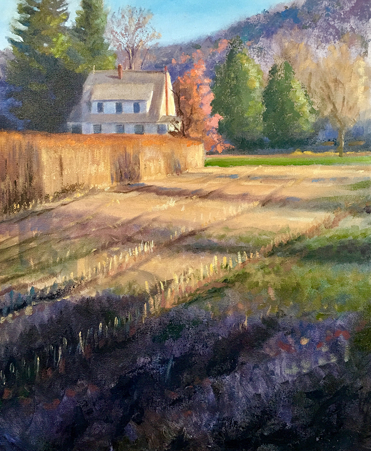 "Tom Gardner ""Corn Stubble"" 20x16 oil $1,400."