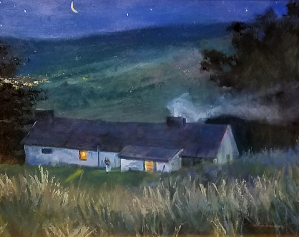"Tom Gardner ""Country Cottage"" 16x20 oil $1,400."