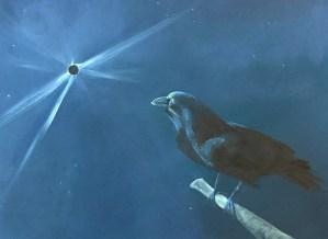 "Tom Gardner ""Solar Eclipse - Crow at Dawn"" 16x20 oil $1,400."