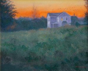 """Tom Gardner """"Evening Fly By"""" 16x20 oil $1,400."""