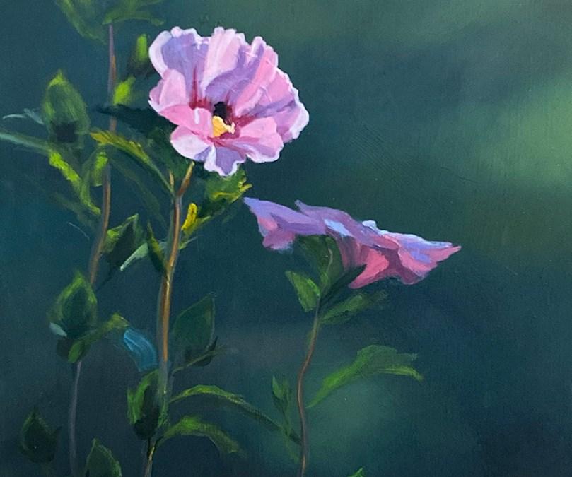 """Tom Gardner """"Morning Sun"""" 18x14 oil $1,200."""
