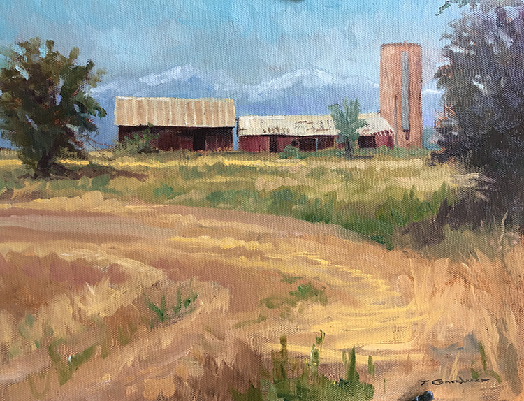 "Tom Gardner ""Near Loveland, CO"" 11x14 oil $975."