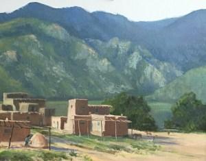 "Tom Gardner ""Taos Pueblo"" 16x20 oil $1,400."