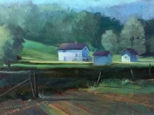 """Tom Gardner """"White Farm"""" 8x10 oil $850."""
