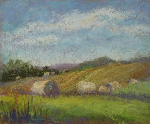 "Linda Hansee ""After Haying"" 8x10 pastel $300."