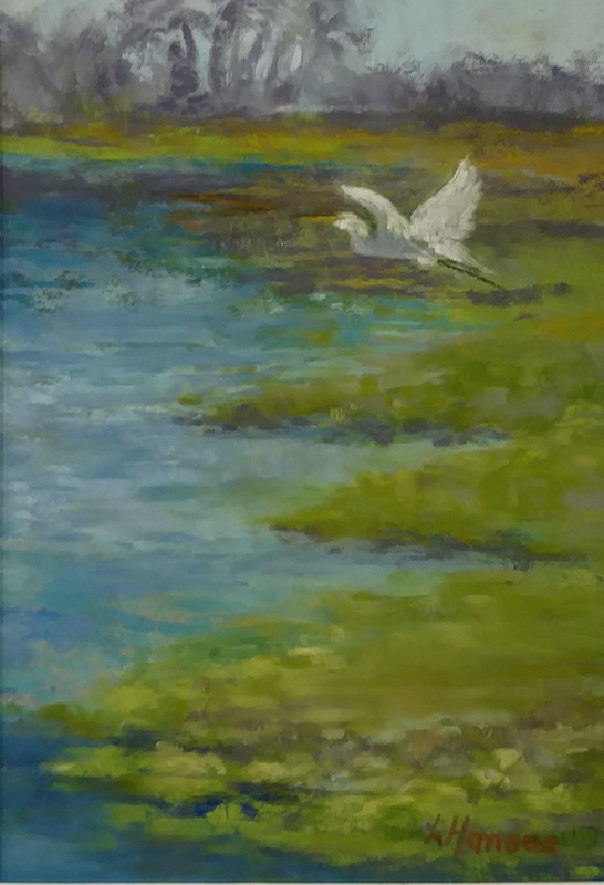 "Linda Hansee ""Taking Flight"" 7x5 pastel $250."