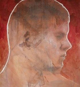 """Edd Tokarz Harnas """"Lazy Outrage"""" 10x8 pencil/acrylic on canvas $170."""