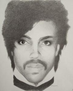 "Edd Tokarz Harnas ""Prince"" 14x11 ballpoint pen/paper $160. (unframed)"