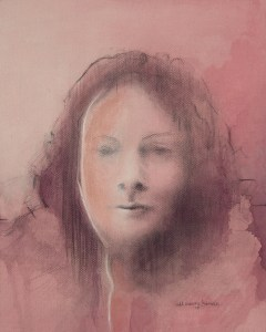 "Edd Tokarz Harnas ""Project MK Ultra"" 10x8 pencil/acrylic on canvas $170."