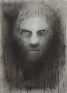 "Edd Tokarz Harnas ""Too Brave to Lie"" 7x5 pencil/acrylic $80."