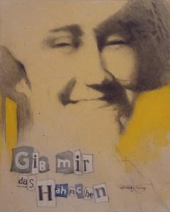 "Edd Tokarz Harnas ""Ultimatum"" 10x8 pencil/acrylic on gallery wrapped canvas $170."