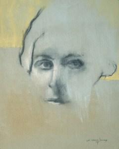 """dd Tokarz Harnas """"Where is Away?"""" 10x8 pencil/acrylic on canvas $170."""