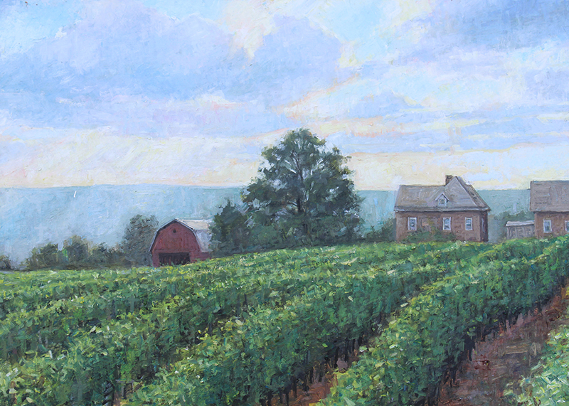 "Brian Hart ""Dr. Frank's Vineyard"" 9x12 oil $990. SOLD"