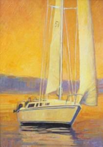 "Brian Hart ""Golden Hour"" 10x8 acrylic $810."