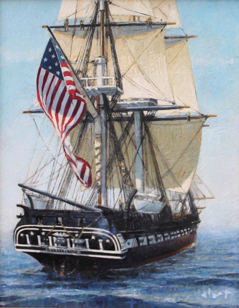 """Brian Hart """"Pride of a Nation"""" 11x14 oil $1,410."""