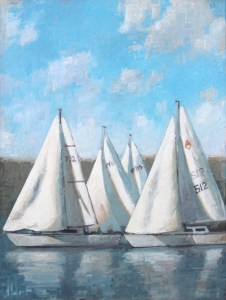 "Brian Hart ""Windward"" 12x9 acrylic $810."
