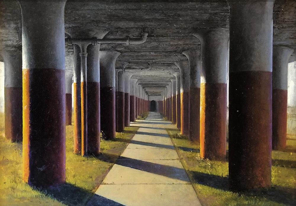 "David Higgins ""Columns"" 20x30 oil $5,000."