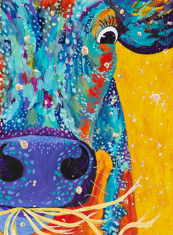 """Amy Hutto """"Nom, Nom, Nom"""" 6x8 acrylic/gallery wrap $215."""