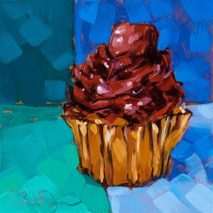 "Christina Johnson ""Chocolate Minty Fresh"" 4x4 oil $75."