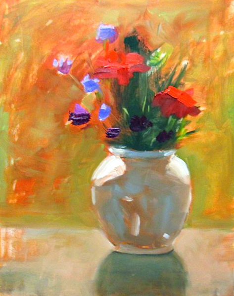 """Ileen Kaplan """"Bouquet in the Morning Sun"""" 14x11 oil $550. INQUIRE"""