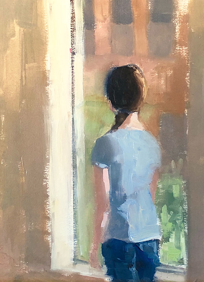 """Ileen Kaplan """"Daydreaming"""" 12x9 oil $500. INQUIRE"""