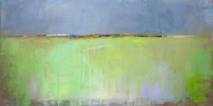 "Ileen Kaplan ""Fields of Green"" 15x30 oil $1,050."