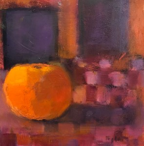 "Ileen Kaplan ""Orange Glow"" 6x6 oil $285."