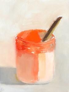 """Ileen Kaplan """"Paint Jar"""" 8x6 oil $330."""