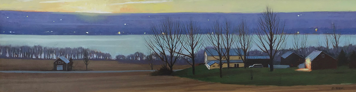 "Brian Keeler ""After Glow, Early Spring Evening - Valois, NY"" 30x36 oil/linen $1,800. Inquire*"