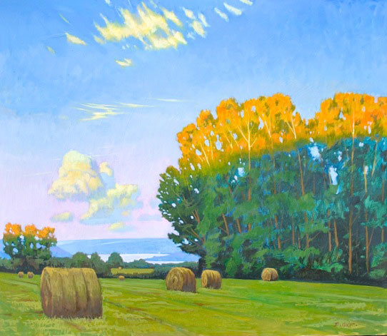 "Brian Keeler ""Edge of Light, Keuka Lake"" 26x30 oil $2,800."