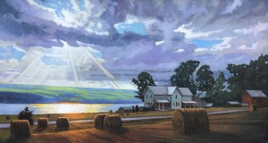 "Brian Keeler ""Emerging Light - Seneca Solstice"" 29x54 oil $8,400."