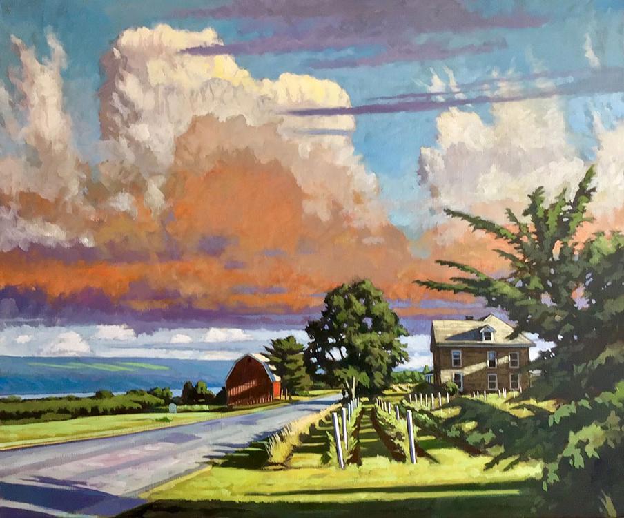 """Brian Keeler """"June Afternoon Light"""" 30x36 oil/linen $3,400."""