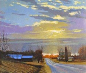 "Brian S. Keeler ""Night of the Peepers - Keuka"" 26x30 oil $2,800"