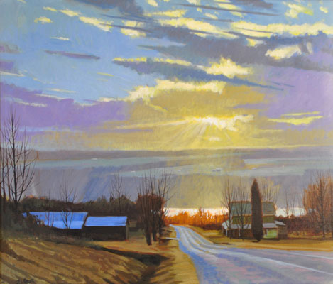 "Brian S. Keeler ""Night of the Peepers - Keuka"" 26x30 oil $2,800. SOLD"