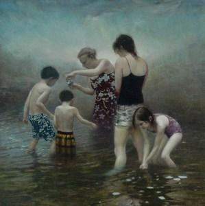 "Joseph A. Miller ""Flood"" 13x13 oil on paper/panel $1,400."