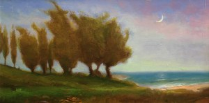 "Joseph A. Miller ""Day Dream"" 6.5x12.5 oil/panel $600."