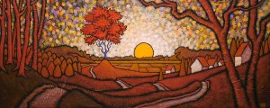 """GC Myers """"Dawn Invocation"""" 16x40 acrylic/canvas $ Inquire"""