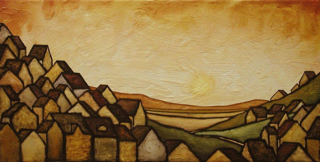 "GC Myers ""Finally, Light"" 8x16 acrylic/canvas $ Inquire"
